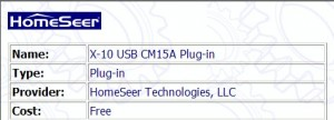 CM15A Homeseer Plugin